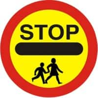 Road Sign Children Aluminium Composite 45 x 45 cm