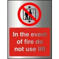 Fire Sign Do Not Use Lift Acrylic 20 x 15 cm