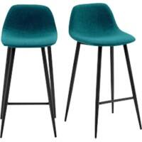 Paperflow Bar Stool Fabric Blue 2 Pieces