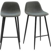 Paperflow Bar Stool Fabric Grey 2 Pieces