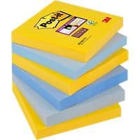 Post-it Super Sticky Notes 76 x 76 mm New York Collection 6 Pieces of 90 Sheets