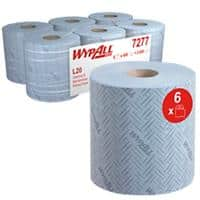 WYPALL Centrefeed Rolls 7277 L20 2 Ply Blue 400 Sheets Pack of 6