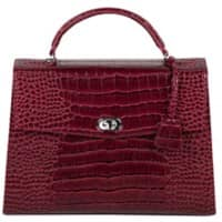 SOCHA Ladies Laptop Bag Audrey Croco Burgundy 13.3 Inch Synthetic Leather Wine Red 40 x 12 x 28.5 cm