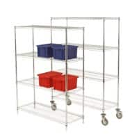 SLINGSBY Wire Shelving Kit 457 x 914 x 1590mm Bright Chrome