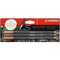 STABILO Pens 68 Metallic 1.4 mm Assorted Pack of 3