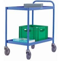 SLINGSBY Service Trolley with 2 Shelves 331491 Steel Blue 45.5 x 78 x 79.5 cm
