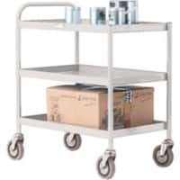 SLINGSBY service Trolley with 3 Shelves 331492 Steel Grey 45.5 x 78 x 79.5 cm
