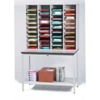 SLINGSBY Clearview Open Front Mail Sorting Unit with Bench 1048 x 360 x 1200 mm Grey