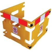 Safety Barrier Floor Standing Yellow 3 x 294 x 80 cm