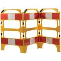 Road Safety Barrier Floor Standing Yellow 100 x 75 x 100 cm Pack of 3