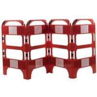 Road Safety Barrier Floor Standing Red 100 x 75 x 100 cm Pack of 4