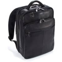 Falcon Leather Laptop Backpack FI6705 15.6 Inch 31.5 x 16 x 40 cm Black