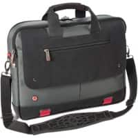 Falcon Laptop Bag is0502 15.6 Inch Polyester Titanium, Black, Red 40 x 6.5 x 32 cm