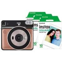 Fujifilm Instant Camera Instax Square SQ6 Blush Gold + 1 x 10 shot film pack, 1 x 20 shot film pack