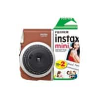Fujifilm Instant Camera Instax Mini 90 Brown + 1 x 10 shot film pack, 1 x 20 shot film pack