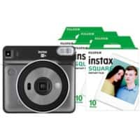 Fujifilm Instant Camera Instax Square SQ6 Graphite Grey + 1 x 10 Shot Film Pack + 1 x 20 Shot Film Pack