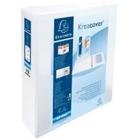 Exacompta Presentation Ring Binder Kreacover Personal 51824E Polypropylene A4+ 2 ring 50 mm White Pack of 10