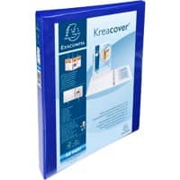 Exacompta Presentation Ring Binder Polypropylene A4+ 4 ring 15 mm Blue Pack of 10