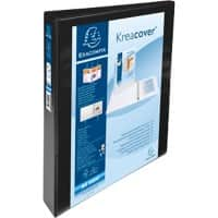 Exacompta Presentation Ring Binder Polypropylene A4+ 4 ring 25 mm Black Pack of 10