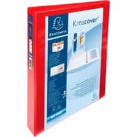 Exacompta Presentation Ring Binder Polypropylene A4+ 4 ring 25 mm Red Pack of 10
