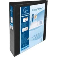 Exacompta Presentation Ring Binder Kreacover Personal 51943NE Polypropylene A4+ 4 ring 40 mm Black Pack of 10