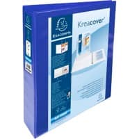 Exacompta Presentation Ring Binder Polypropylene A4+ 4 ring 40 mm Blue Pack of 10