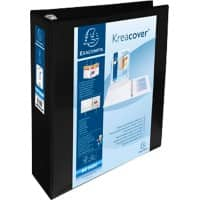 Exacompta Presentation Ring Binder Polypropylene A4+ 4 ring 60 mm Black Pack of 10