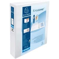 Exacompta Presentation Ring Binder with 2 Pockets 51924E Polypropylene A4+ 2 ring 50 mm White Pack of 10
