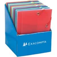 Exacompta 3 Flap Folder 50889E A6 Assorted Polypropylene 12 x 16 cm Pack of 25