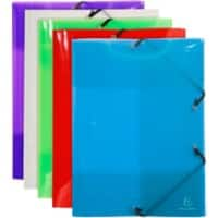 Exacompta 3 Flap Folder 59700E A3 Assorted Polypropylene 32 x 44 cm Pack of 10