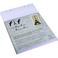 Exacompta Refill Paper 12236E White Ruled Perforated 29.7 x 21 cm