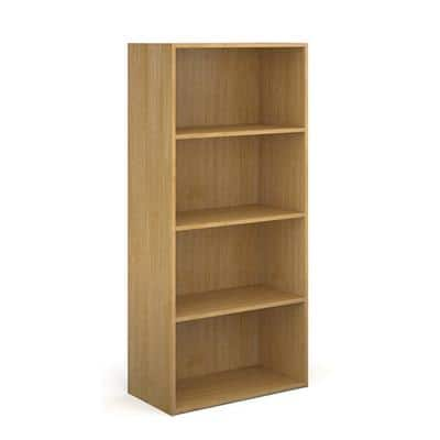 Dams International Bookcase with 3 Shelves Contract 25 756 x 408 x 1630 mm Oak