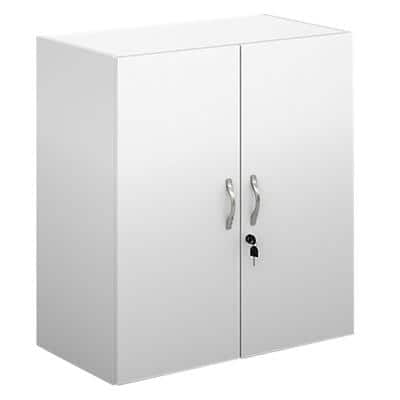 Dams International Cupboard Lockable Melamine Contract 25 756 x 408 x 830mm White
