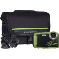 Fujifilm Digital Camera Finepix XP140 16.4 Megapixel Lime + Bicycle Mount, Large Suction Tripod Mount & Case