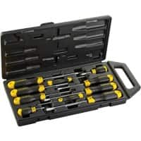 Stanley Flared,Pozidriv Cushion Grip Screwdriver Set Pack of 10