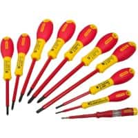 Stanley Fatmax VDE Insulated Pozidriv, Parallel, Flared Screwdriver Set Pack of 10