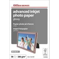 Office Depot Photo Paper Glossy Coated 10 x 15 cm 280gsm White 50 Sheets