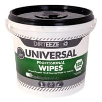 Dirteeze Universal Wet Cleaning Wipes White Pack of 150