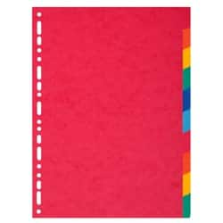Exacompta Dividers 2110E A4+ Assorted 10 tabs card blank