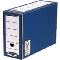 BANKERS BOX® Premium Heavy-Duty FastFold®Transfer File Blue - Pack of 10
