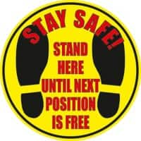 Seco Floor Sticker Stand here until next position is free Anti-Slip Laminate 43 x 43 cm