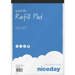 Niceday Refill Pads White Quadrille perforated A4+ 31.5 x 21 cm 5 pieces of 80 sheets