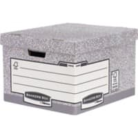 Bankers Box System Large FastFold Archive Boxes Grey 294(H) x 387(W) x 445(D) mm Pack of 10