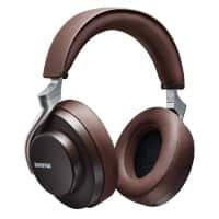 Shure Wireless Headphones AONIC 50 Over-the-Head Bluetooth Sound Isolating With Microphone Dark Brown