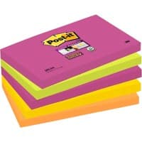 Post-it Super Sticky Notes Cape Town 76 x 127 mm 6 Pads of 90 Sheets
