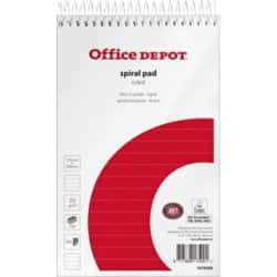 Office Depot Spiral Pad Ruled micro perforated 125 x 200 mm 12.5 x 20 cm 10 pieces of 150 sheets