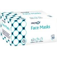 Proteqt Face Mask Type IIR Non Woven White Pack of 50