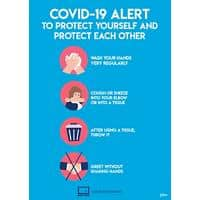 AVERY COVVPA4 COVID-19 Virus Prevention Labels A4 210 x 297 mm Blue 2 Labels