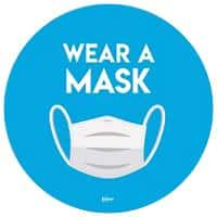 AVERY COVWM275 COVID-19 Wear a Mask Circular Labels Blue 2 Labels