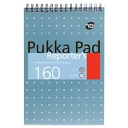 Pukka Reporters 160 Page White Pad 205 x 140 mm 3pk